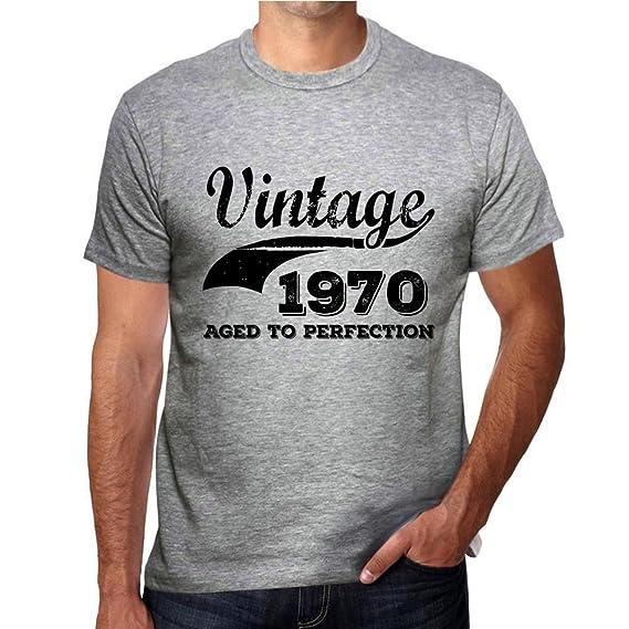 One in the City Vintage Aged to Perfection 1970, Regalo cumpleaños Hombre, Camisetas Hombre cumpleaños, Vendimia añejado a la perfección Camiseta ...