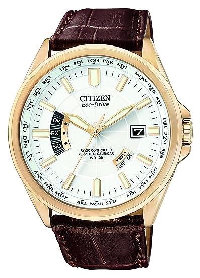 Citizen CB0013-04A - Reloj analógico de cuarzo para hombre, correa de cuero color