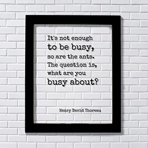 Amazoncom Henry David Thoreau Floating Quote Its Not Enough