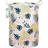 FANKANG Storage Bins, Nursery Hamper Canvas Laundry Basket Foldable with Waterproof PE Coating Large Storage Baskets for…
