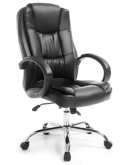 office leather chair. Neader High Back Office Leather Executive Chair Management Swivel Desk  With Fully Adjust Black Office Leather Chair A