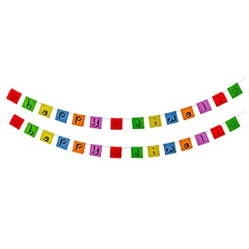 Amazon Com Diwali Decorations Happy Diwali Banner 2 Pack