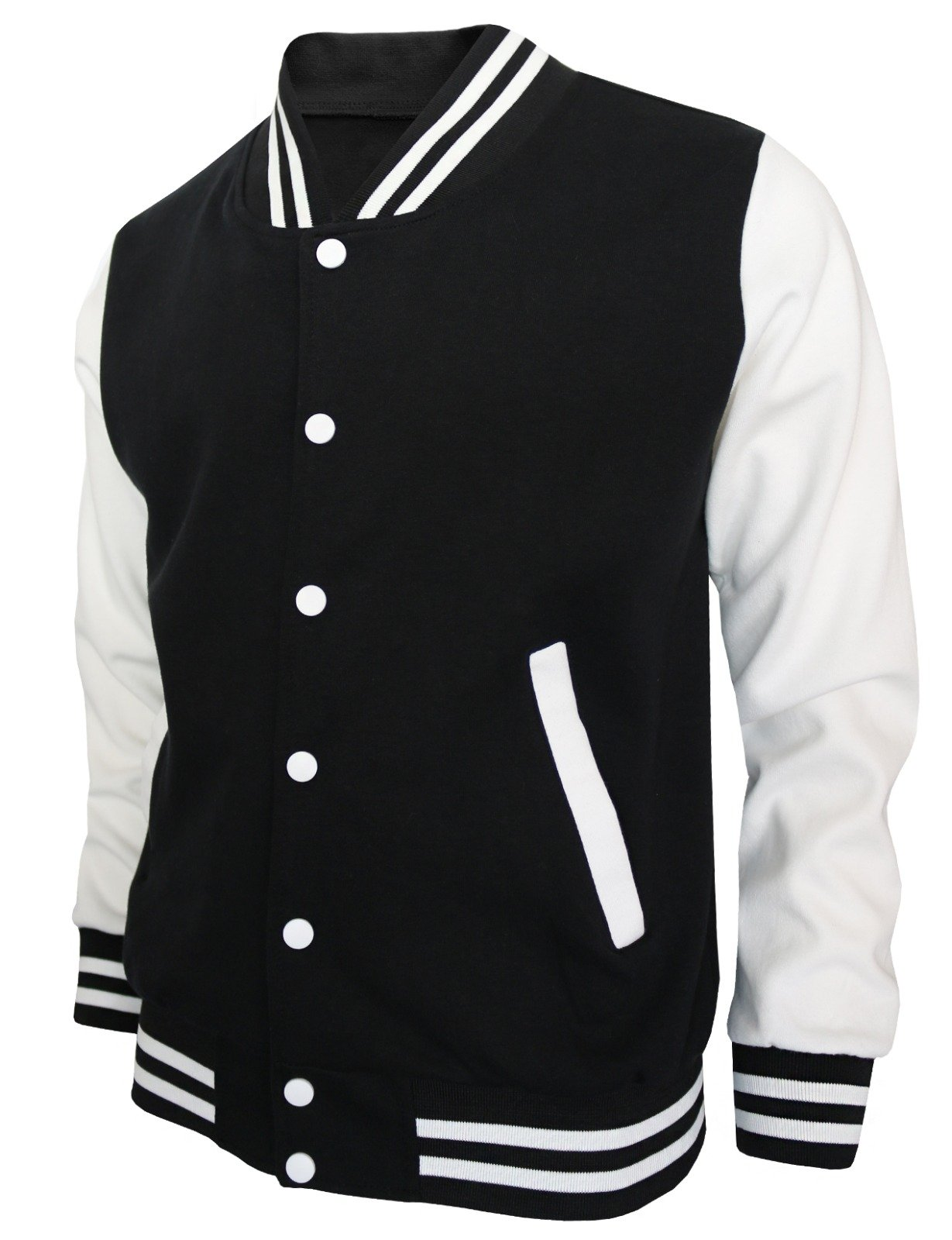 BCPOLO Baseball Jacket Varsity Baseball Cotton Jacket Letterman jacket 8 Colors-black L US, Asian XL by BCPOLO