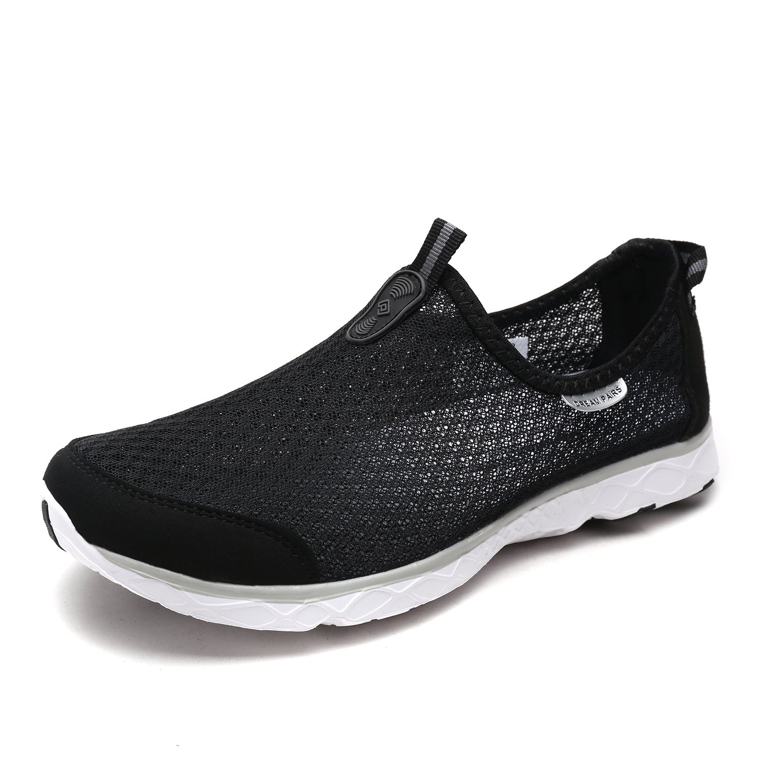 DREAM PAIRS Men's 1610043-M Black Grey Quick-Dry Slip-on Water Shoes for Beach Pool Walking - 12 M US