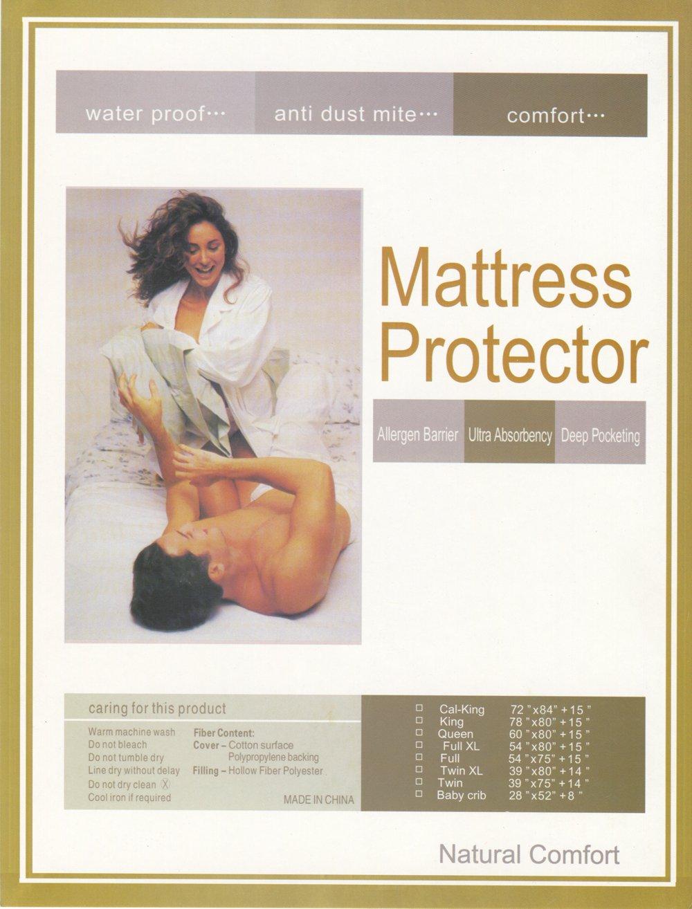Baby cribs not made in china - Amazon Com Natural Comfort Waterproof Mattress Pad Super Absorbency Deep Pocket Home Kitchen
