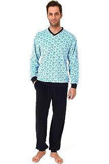 39f66792aa Herren Frottee Pyjama lang mit Bündchen - auch in Übergrössen bis Gr. 70 -  101
