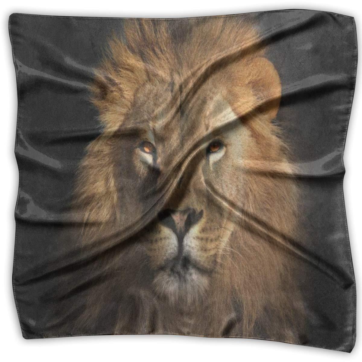 Pañuelo cuadrado marrón rey león animal silenciador pañuelo unisex ...