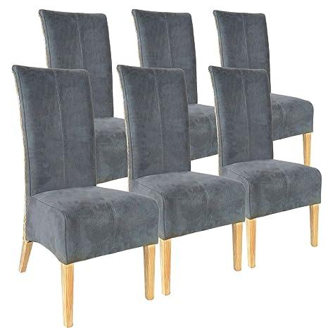 sillas de ratán establecen Antonio 6 Piezas sillas tapizadas ...