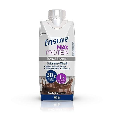 ever popular latest discount popular brand Ensure Max Protein Integratore Alimentare con Proteine, Vitamine e Minerali  al Cioccolato - Pack da 8 x 330 ml