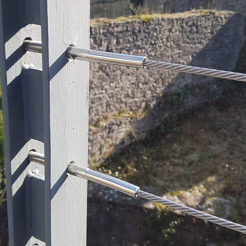 Walzterminal//Schraubterminal//Gewindeterminal//Drahtseilterminal aus Edelstahl V2A 1 St/ück, /Ø 4 mm