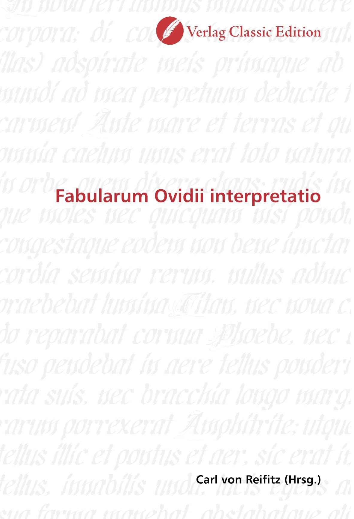 Fabularum Ovidii interpretatio (German Edition) pdf