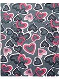 Multifunctional Headwear Pink Hearts on Grey Background