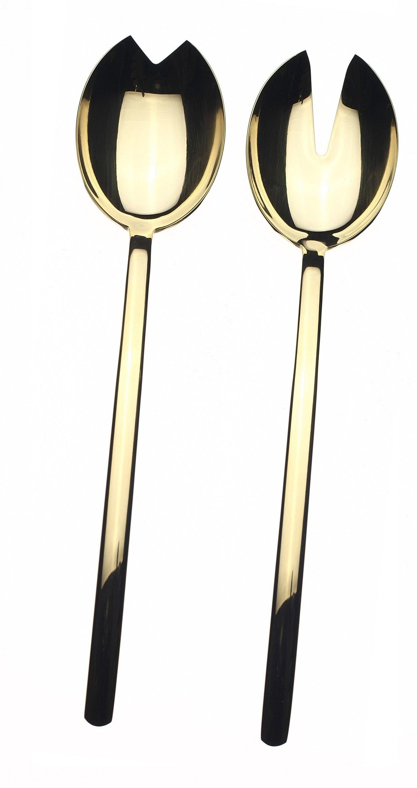 Mepra Due Oro Salad Flatware Set