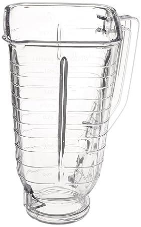 Oster 089 - Accesorio de plástico para tarro de mezcla, transparente, cuadrado