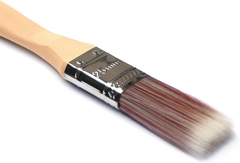 ideales para Chalk Paint cera Shabby y pinturas en general. Juego de pinceles profesionales universales de cerdas de poliuretano extrafinas