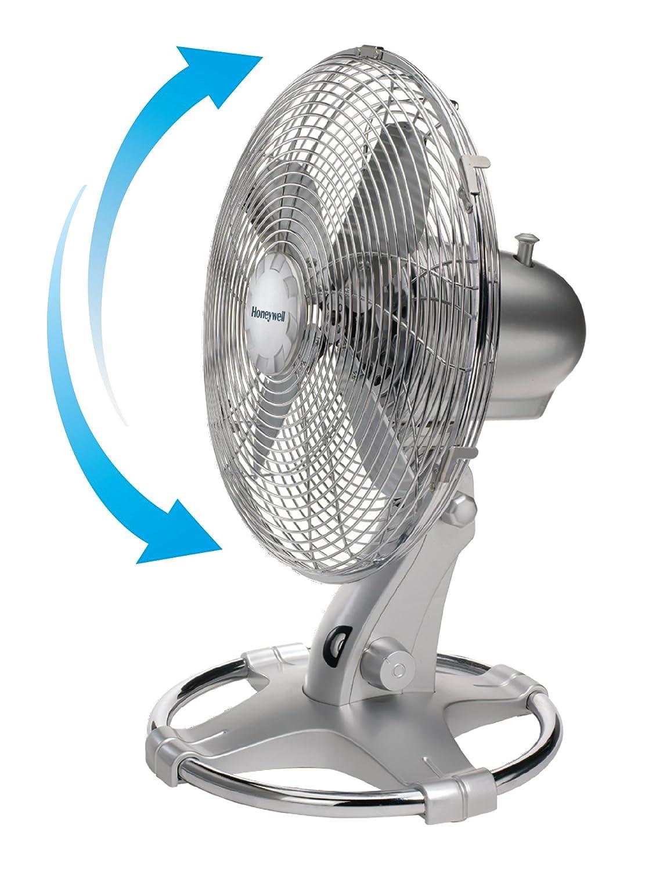 12 inch Honeywell HT-216E Oscillating Table Fan Chrome