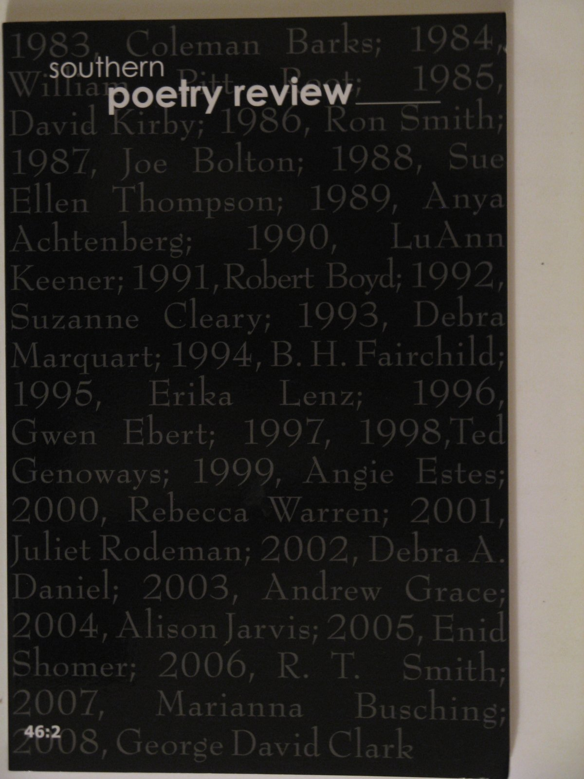 Download Southern Poetry Review 46:2 (46:2) pdf