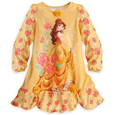 Image Unavailable. Image not available for. Color  Disney Store Princess  Belle Little Girl Long Sleeve Nightgown Pajama ... 54b37c3b9