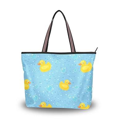 9ccfc4999d Image Unavailable. Image not available for. Color  Rubber Ducks Shoulder  Bags Large ...
