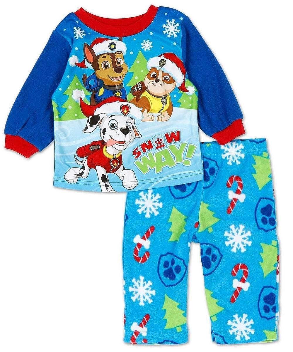 Christmas Fleece Pajama Set Paw Patrol Boys 12 Months Snow Way