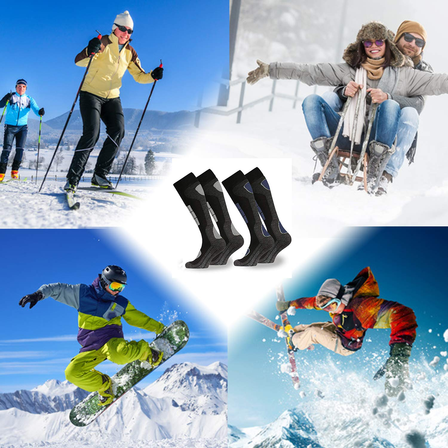 Socken Ski Funktionssocken Thermosocken Wintersocken Skisocken Kniestrümpfe Snowboard