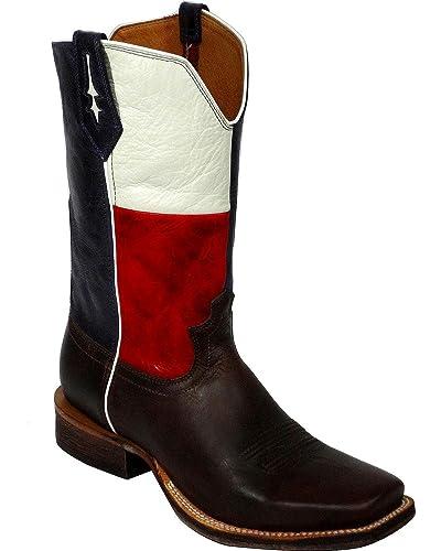 8518da94dad Twisted X Men's River Texas Flag Cowboy Boot Square Toe