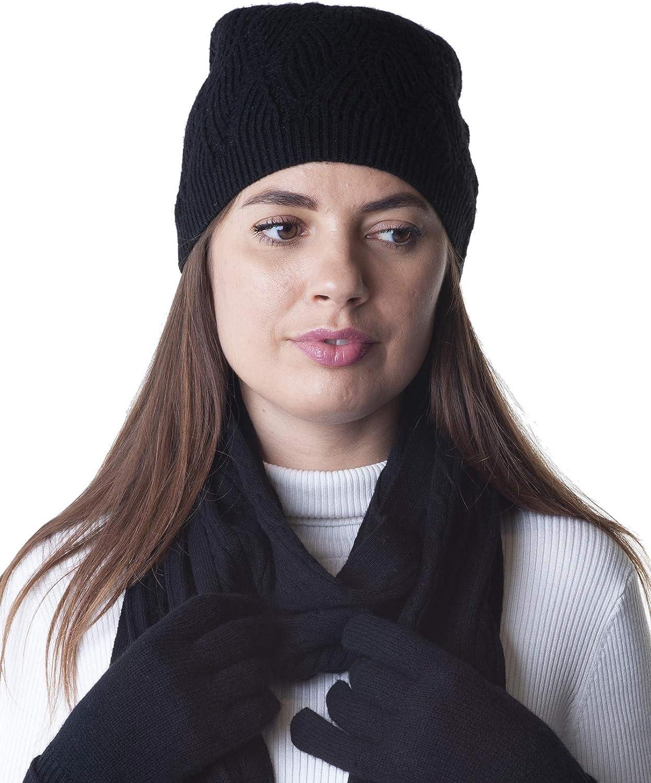 taglia unica con 44 cm di circonferenza della vita e 6,5 cm Style /& Republic Berretto sportivo in 100/% cashmere da donna
