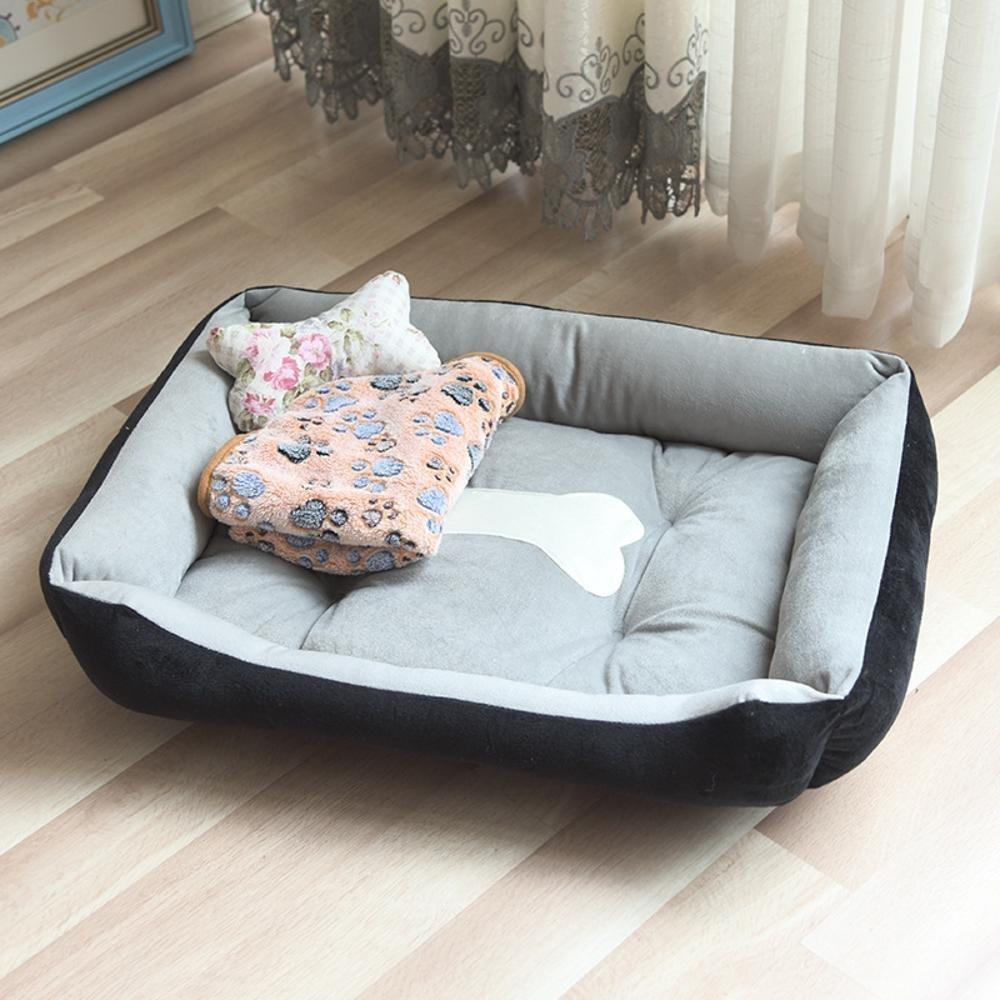 C 45x30cm C 45x30cm YunYilian Pet Bolster Dog Bed Comfort Four Seasons Cushion Kennel Indoor Pet nest (color   C, Size   45x30cm)