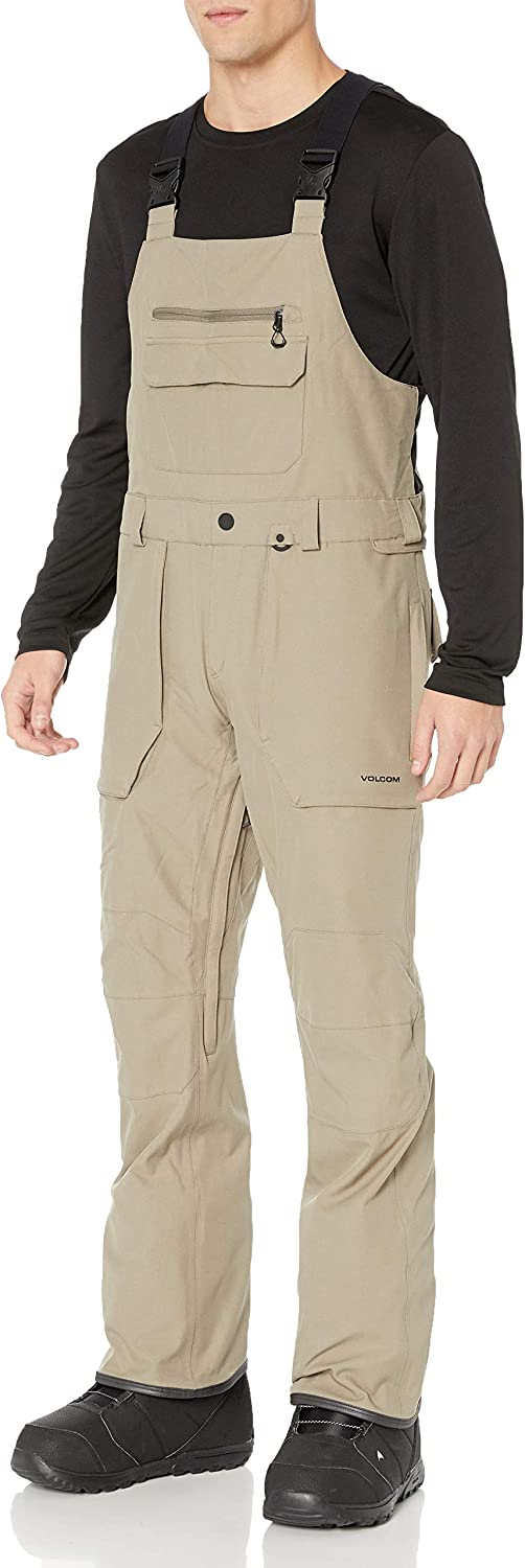 Volcom Men's Roan Bib Overall Snow Pant, Teak, Extra Large: Clothing