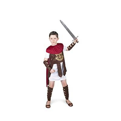 Gladiator Costume Kids, Roman Soldier Centurion, Boys 7-8 Years, Large: Clothing