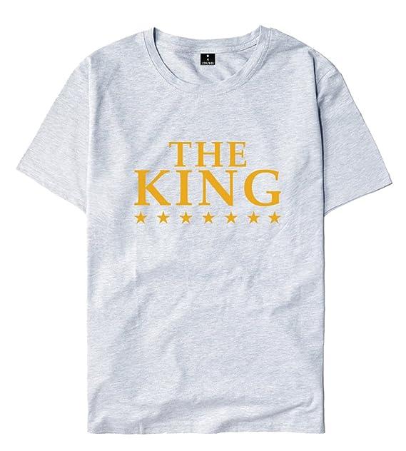 SIMYJOY King and Queen Rey y Reina Camiseta Lovers Pareja ...