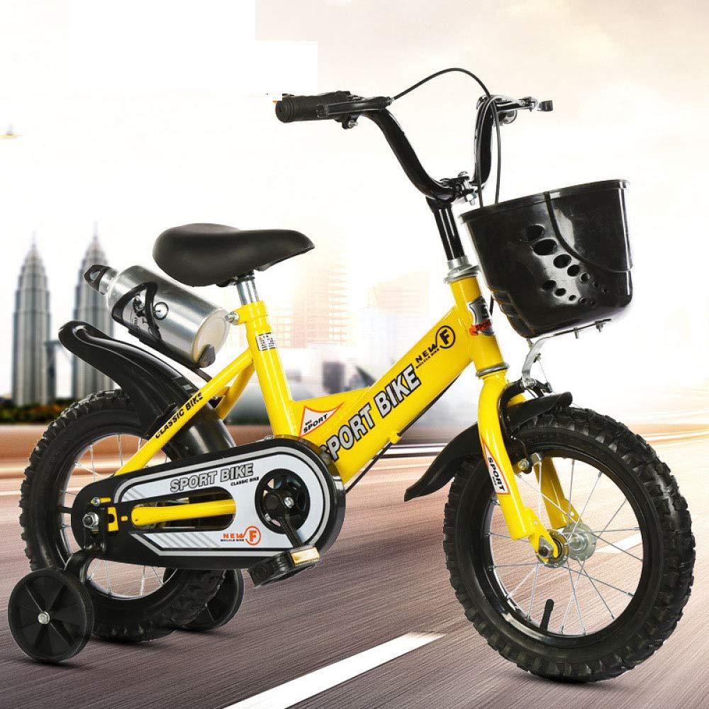 Defect Bicicletta Bambini Ragazzo e Ragazza Universale Bici, Bicicletta con Cestino + stabilizzatore