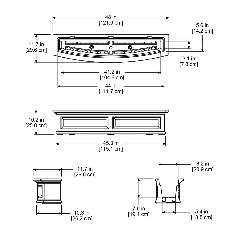 Decorative Brackets Polyethylene Wall Mounting Type in Espresso Finish 2-Pack