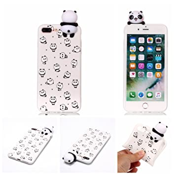 LJSM Funda para iPhone 7 Plus/iPhone 8 Plus Carcasa Panda ...
