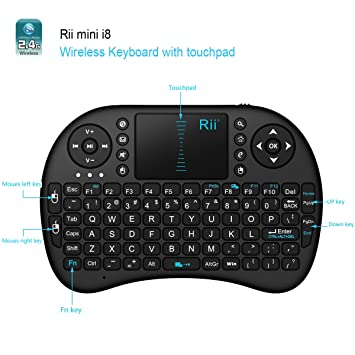 95082b6dc05 Rii i8 Wireless Mini Keyboard and Mouse Combo Remote with Rechargeable  Battery Compatible with Android TV