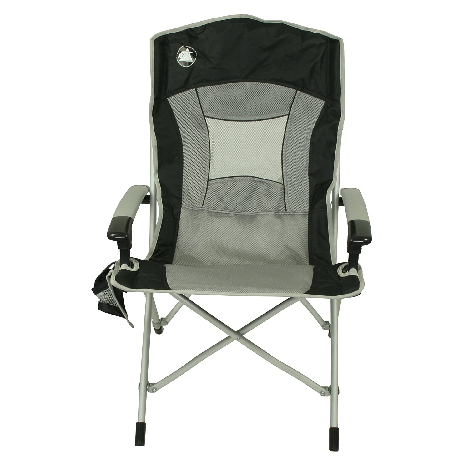 10T Big Boy Aluminium camping chair solid high back with