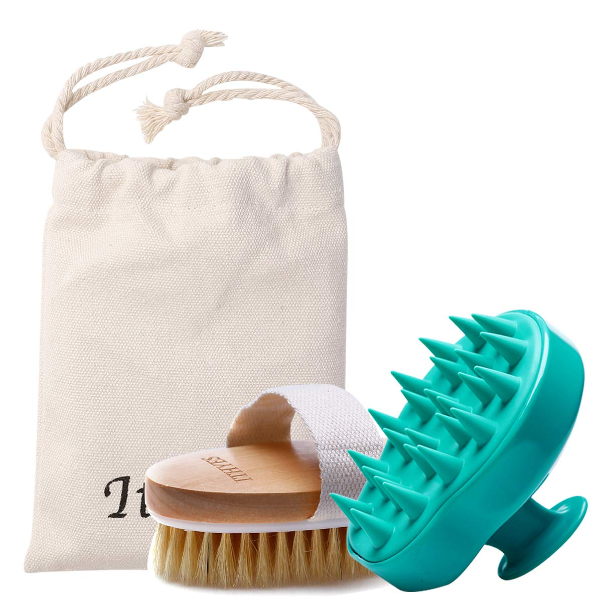 Amazon Com Shampoo Brush Bath Brush Kit Pack 2 Of Hair Brush