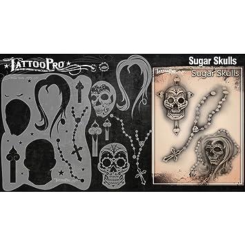 Tatuaje Pro Plantillas Serie 2 - Calaveras de azúcar: Amazon.es ...