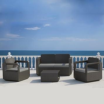 Concept-Usine Futura : salon de jardin design effet résine tressée ...