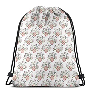 8dea91c2a43c Amazon.com | Printed Drawstring Backpacks Bags, Pastoral Idyllic ...