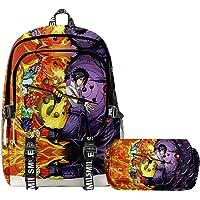 Teenager 3D Anime Naruto Anime Uzumaki Hatake Kakashi Schoolbag Travel Backpack Shoulder Bag Pencil Case 2pcs Gift for…