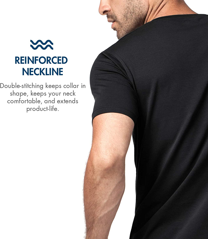 LAPASA Pack de 2 Camisetas Hombre de Algod/ón ELS Manga Corta Camiseta Interior M05//M06