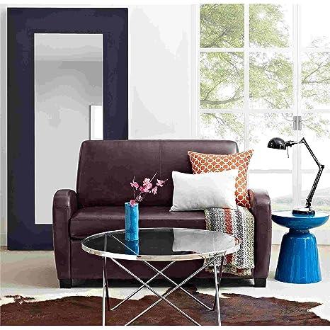 Tremendous 54 Faux Leather Sofa Loveseat Sleeper Brown Creativecarmelina Interior Chair Design Creativecarmelinacom