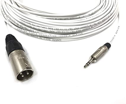75 Foot Pro Audio 1//4 inch 6.35mm TRS Balanced Cable by Custom Cable Connection TRS to 1//8 inch 3.5mm