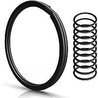 Sleutelringen | 30 mm - 10 stuks | gehard staal | robuust | zwart | buitendiameter 25 mm | magnetisch | ring voor…