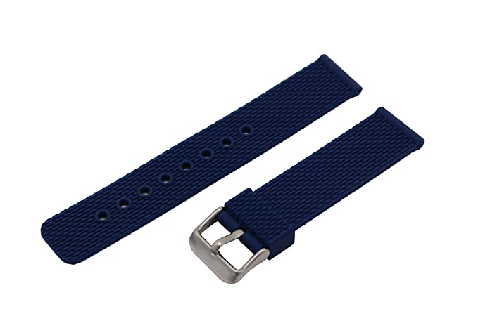 22mm Royal Blue Flexible Rubber Watch Straps for Sport Smart Watch Bands  Silicon with Quick Release a75d653cfd08
