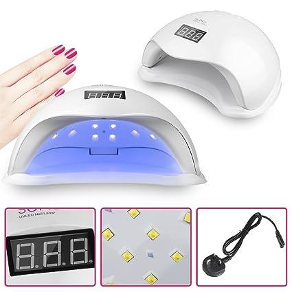 Vinteky® 48W Secador de uñas Lámpara LED Manicura Lámpara solar de uñas LED de Infrarrojos