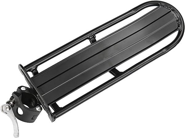 MTB-Gepäckträger Screw-On Aluminium schwarz Montage an der Sattelstütze