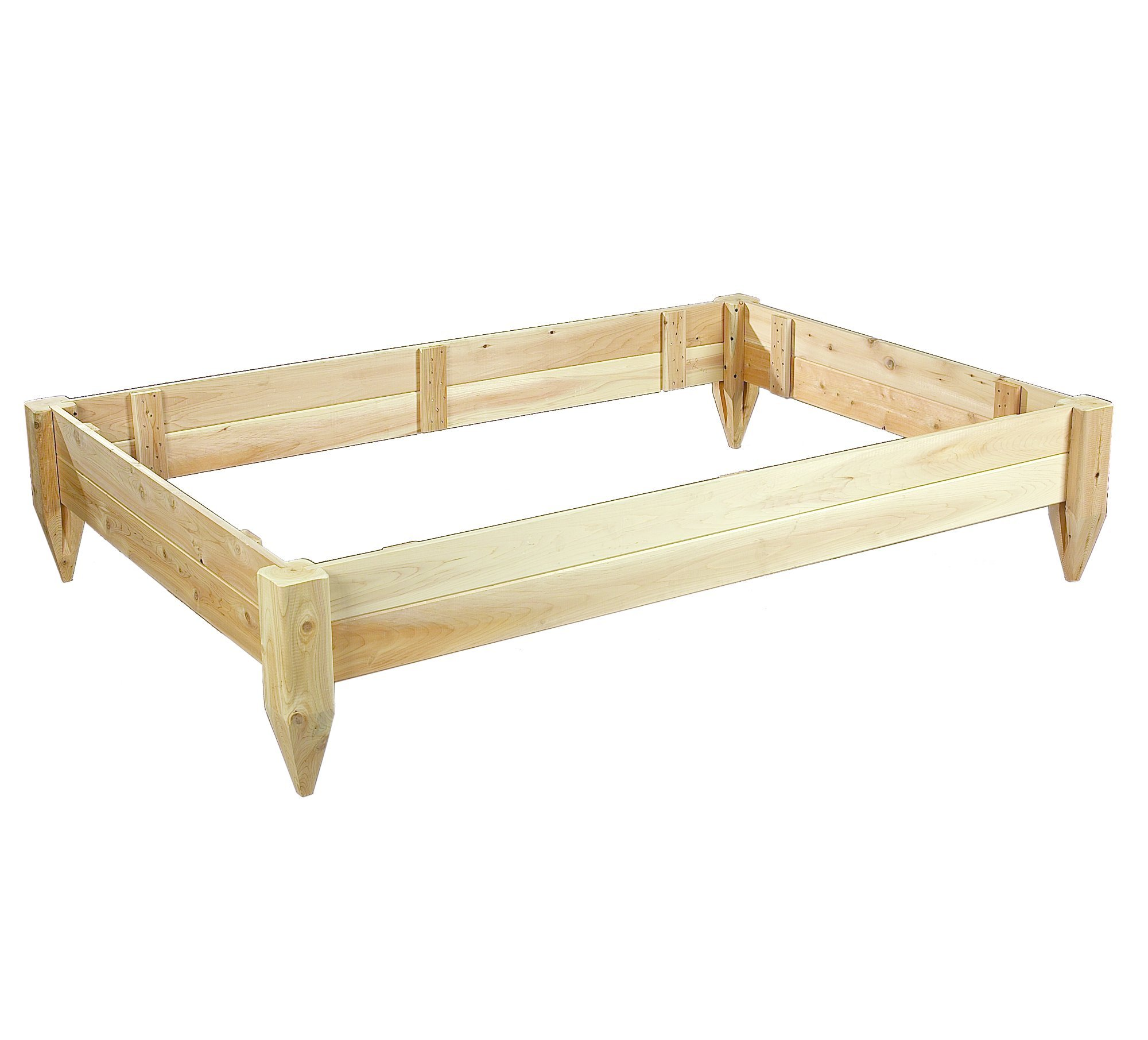 Cedarlooks 3114872 4 by 6-Feet Cedar Raised Bed Planter by Cedarlooks