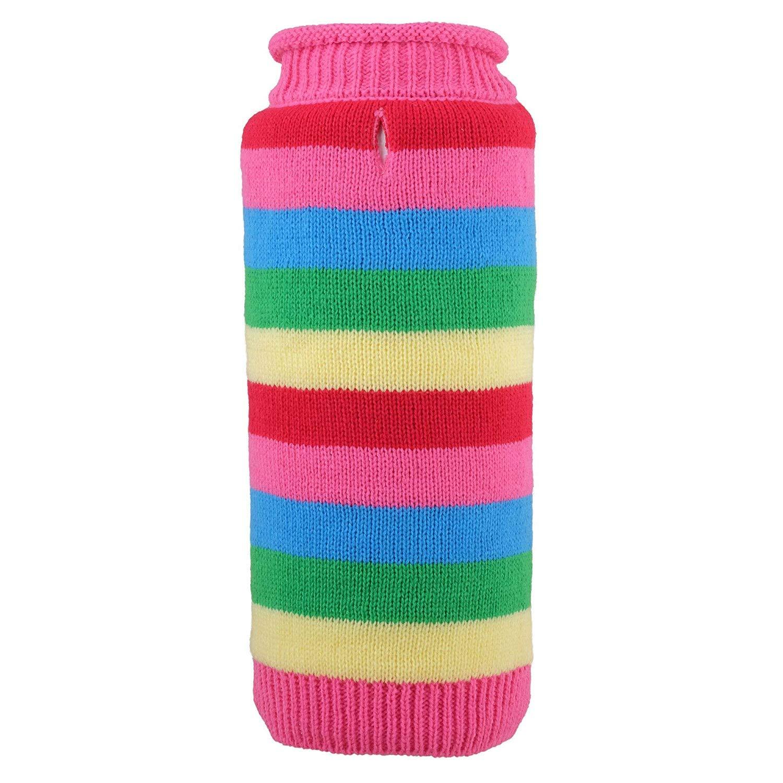 Dapper Stripe Sweater, Pink, M